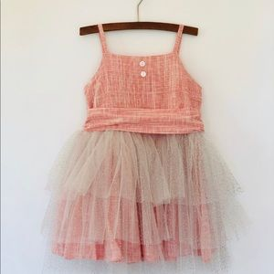 Girls Rouge Tulle Dress by Vignette. Stunning!